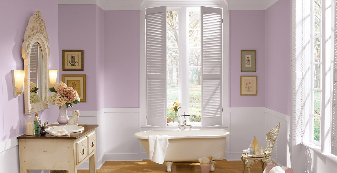lilac bathroom. Lilac Bathroom Purple Painted Room Inspiration  Project Gallery Behr