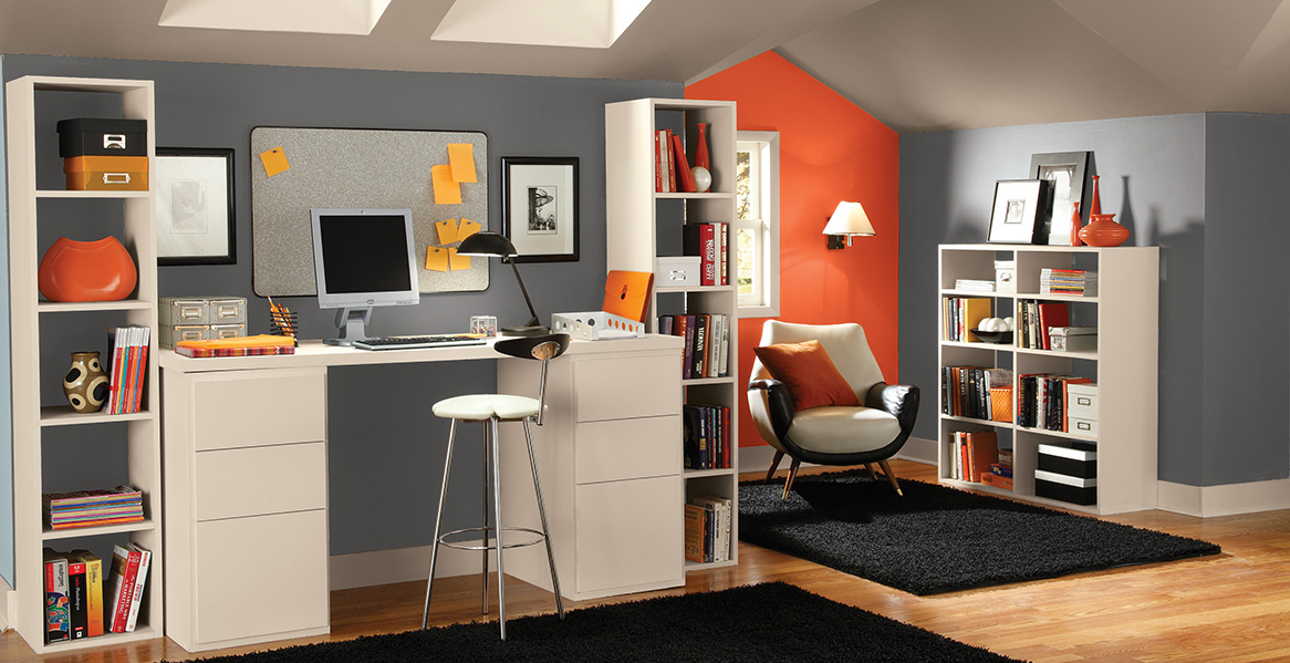Office work spaces color inspiration project gallery for Interior paint inspiration