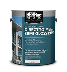 BEHR PREMIUM® Direct To Metal Semi Gloss Paint | Behr Pro