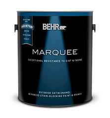 exterior satin enamel paint primer behr marquee behr. Black Bedroom Furniture Sets. Home Design Ideas