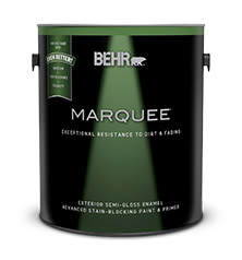 Exterior semi gloss paint behr marquee behr for Behr exterior paint with primer reviews