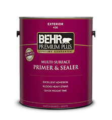 Premium plus exterior multi surface primer sealer behr paint for Behr exterior paint with primer reviews