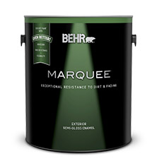 Marquee exterior semi gloss enamel paint primer behr paint for Behr exterior paint with primer reviews