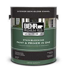 premium plus ultra exterior flat paint primer behr paint. Black Bedroom Furniture Sets. Home Design Ideas