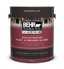 exterior flat paint primer behr premium plus utra behr. Black Bedroom Furniture Sets. Home Design Ideas