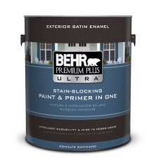 exterior satin enamel paints behr premium plus ultra behr. Black Bedroom Furniture Sets. Home Design Ideas