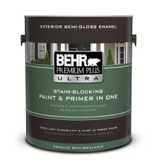 behr premium plus ultra exterior semi gloss enamel paint behr. Black Bedroom Furniture Sets. Home Design Ideas