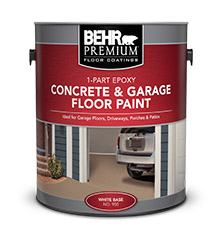 1 Part Epoxy Concrete Amp Garage Floor Paint Behr Premium