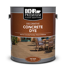 Image result for behr concrete dye