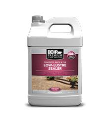 Low Lustre Sealer For Concrete And Masonry Behr Premium
