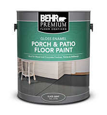 BEHR PREMIUM® Porch U0026 Patio Floor Paint   Gloss Enamel