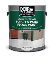 BEHR PREMIUM® Porch U0026 Patio Floor Paint   Low Lustre Enamel