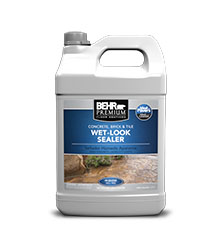 WetLook Sealer For Concrete Masonry BEHR PREMIUM Behr - Behr wet look paver sealer
