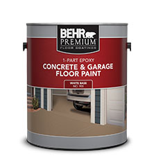 1 Part Epoxy Concrete Amp Garage Floor Paint Behr Paint
