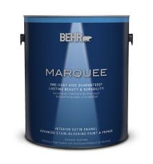 Interior Satin Enamel Stain Blocking Paint Primer Behr Marquee Behr