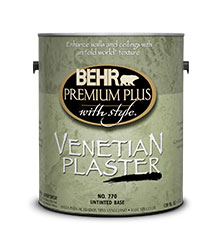 Good BEHR PREMIUM PLUS WITH STYLE® Venetian Plaster™