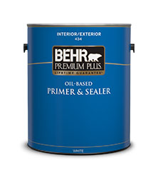 PREMIUM PLUS® Interior/Exterior Oil-Based Primer & Sealer