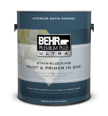 interior satin enamel paint primer behr premium plus ultra behr