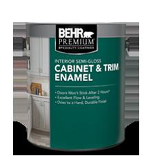 Interior Semi Gloss Cabinet Trim Enamel Paint Behr