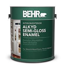 BEHR® Alkyd Semi Gloss Enamel