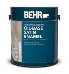 Oil Base Satin Enamel Paints For Interior And Exterior Surfaces Behr