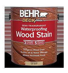 Semi-Transparent Waterproofing Wood Stain | BEHR® DECKplus™ | Behr