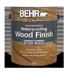 Transparent waterproofing wood finish behr deckplus behr - Best exterior semi transparent stain ...