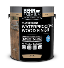 Transparent Waterproofing Wood Finish Behr Premium 174 Behr