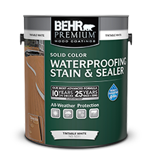 Behr Premium Solid Color Waterproofing Stain Sealer