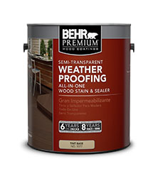 behr premium semi transparent weatherproofing all in one wood stain sealer - Behr Semi Transparent Stain Colors