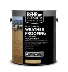 Behr Premium Transparent Weatherproofing Wood Finish Behr
