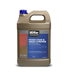 Jug of Behr Premium Wood Stain and Finish Stripper