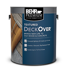 Textured deckover wood stains behr paint - Exterior textured paint home depot ...