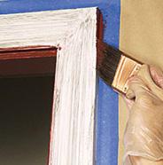 Pintar el borde de la moldura.
