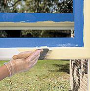 Paint window casings and sills.
