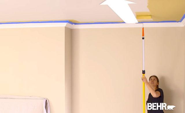 Conseil DExpert  Comment Peinturer Un Plafond De Maison  Behr