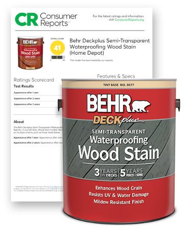 Behr Deckplus Semi-Transparent Stain and Consumer Report