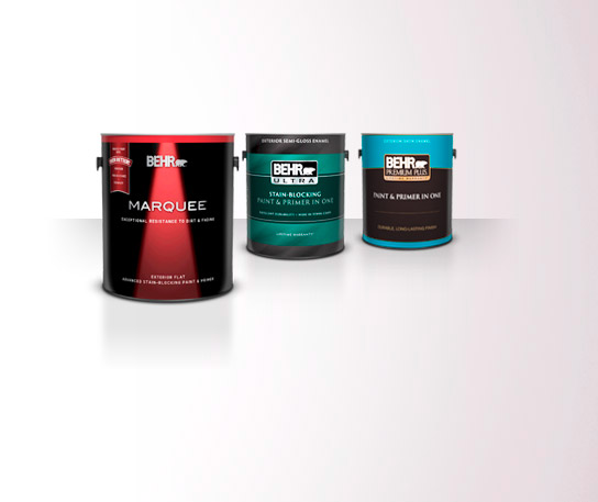 3 Exterior Behr Paint 1 Gallon Cans.