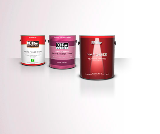 3 Interior Behr Paint 1 Gallon Cans.