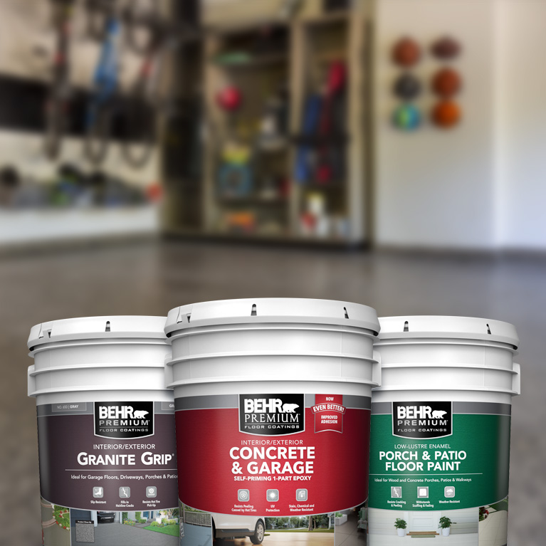 Behr Pro exterior floor products landing page mobile image.