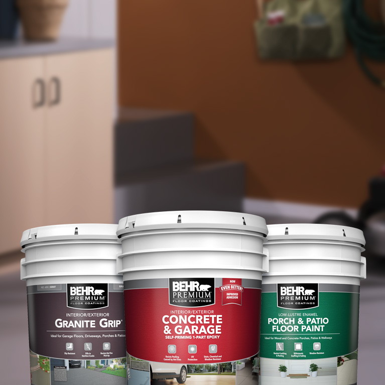 Behr Pro interior floor products landing page mobile image.