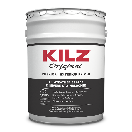 KILZ Original Interior/Exterior primer 5 Gallon can image.