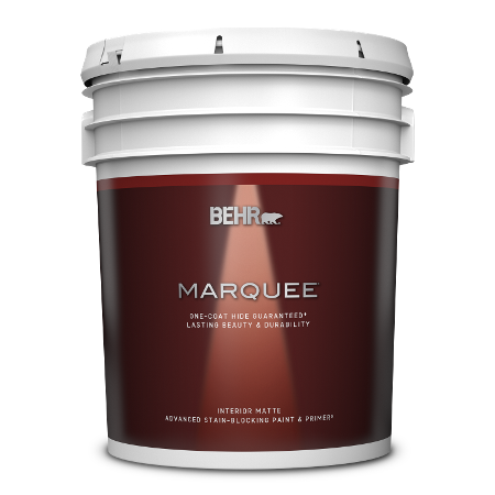 BEHR Marquee interior matte 5 gallon product can image.