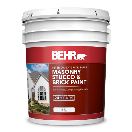 BEHR Masonry, Stucco & Brick Paint - Satin 5 Gallon image.