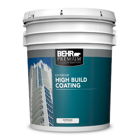 BEHR PREMIUM High Build Coating 5 gallon product can image.