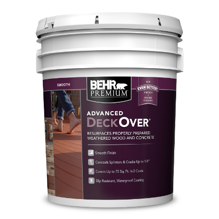 BEHR PREMIUM ADVANCED DECKOVER 5 Gallon image.