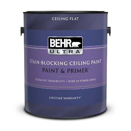 BEHR ULTRA Stain Blocking Ceiling paint in 1 gallon