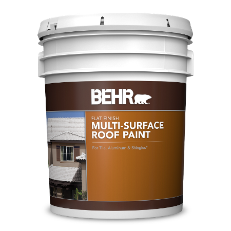5 gallon pail of Behr Multi Surface Roof Paint