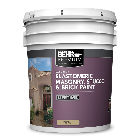 BEHR Elastomeric Masonry, Stucco & Brick Paint 5 Gallon image.