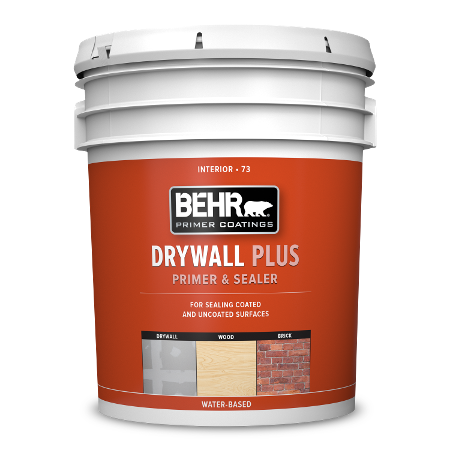 BEHR Drywall Primer 5 gallon can image.